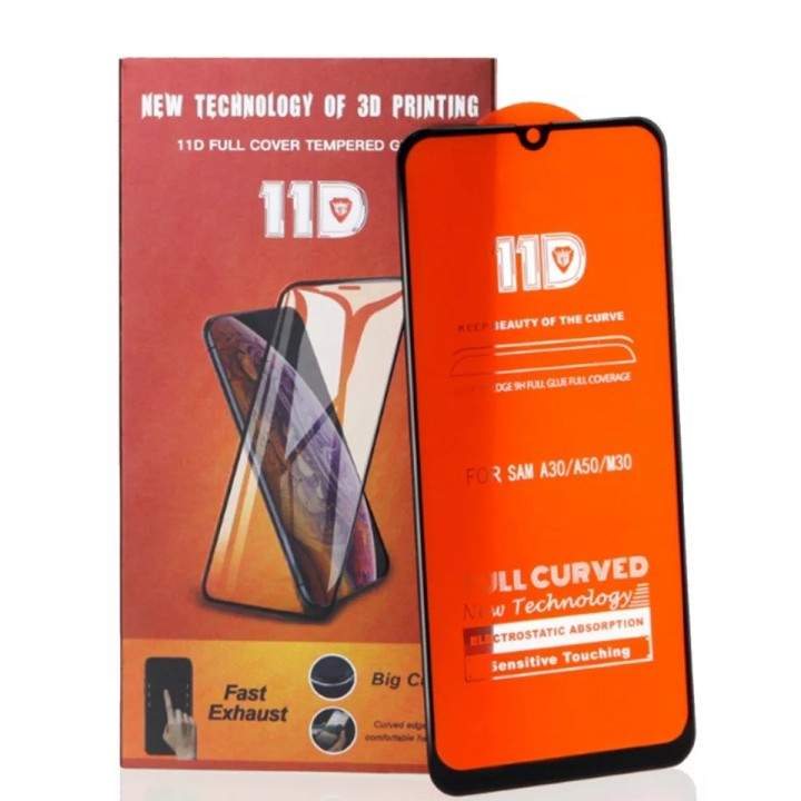 Защитное стекло 19D Premium Full Glue для Samsung A30/A50/M30