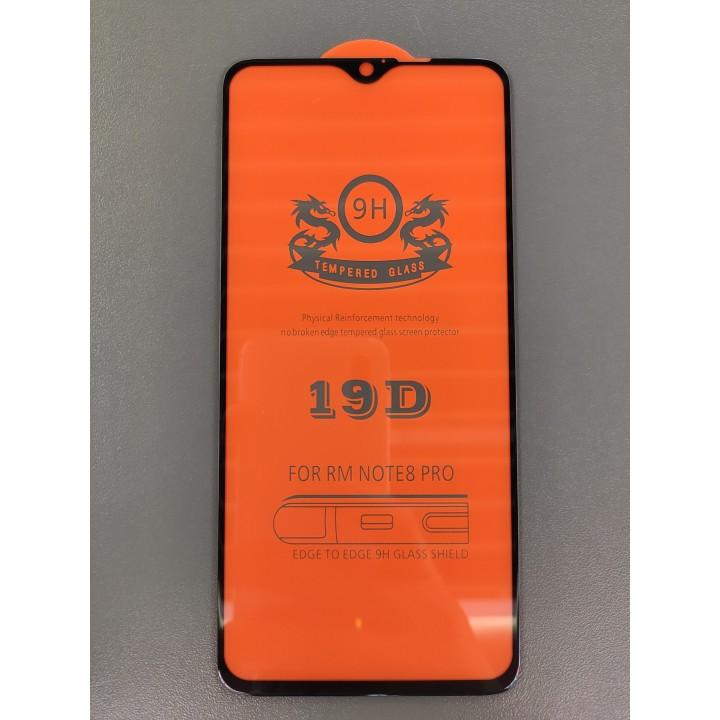 Защитное  стекло 19D  для Xiaomi Redmi Note 8 Pro