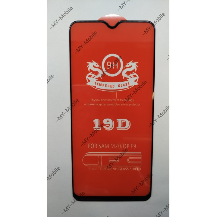 Защитное стекло 19D Premium Full Glue для Samsung Galaxy M20