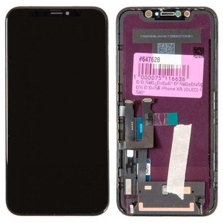Дисплей, модуль для телефона  iPhone Xr + Touchscreen 100% Original Black